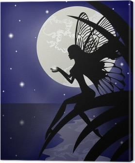 Quadro su Tela Silhouette fata ragazza in possesso di una stella