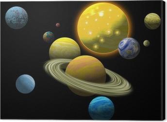 Quadro su Tela Sistema solare