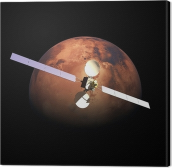 Quadro su Tela Sonda orbitante artificiale sopra Red Planet Mars