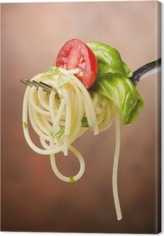 Quadro su Tela Spaghetti pomodoro e basilico