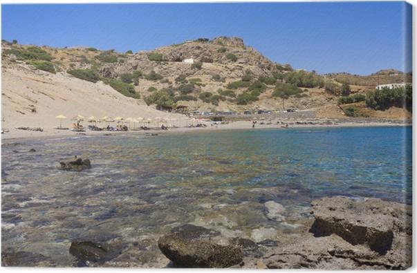 Quadro su Tela Spiaggia di Agios Pavlos nell\'isola di Creta, in ...