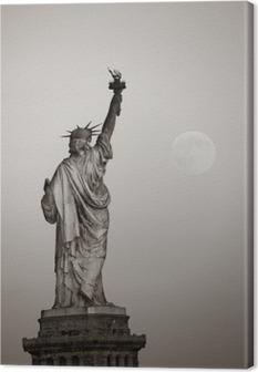 Quadro su Tela Statua della libertà e della luna