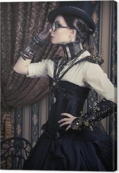 Quadro su Tela Steampunk femminile