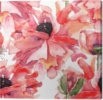 Quadro su Tela Seamless pattern con fiori • Pixers® - Viviamo per il ...