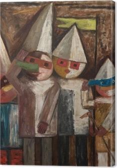 Quadro su Tela Tadeusz Makowski - Carnevale di bambini con banderuola