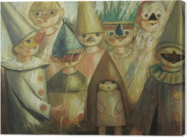 Quadro su Tela Tadeusz Makowski - Festa in maschera -