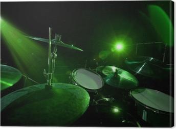 Quadro su Tela Tamburi in luce verde
