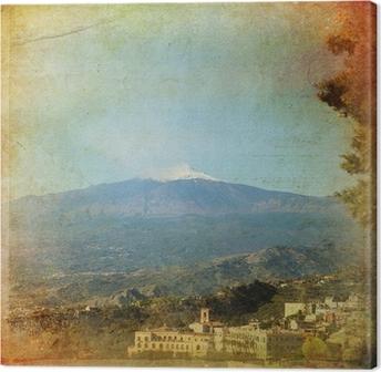 Quadro su Tela Taormina, Etna - Sicilia