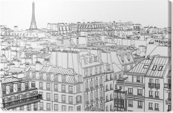 Quadro su tela tetti di parigi pixers viviamo per il for Quadri di parigi
