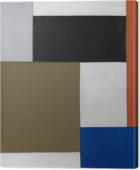 Quadro su Tela Theo van Doesburg - Composizione 1923-1924 - Reproductions
