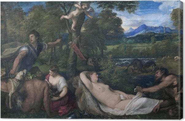 Quadro su Tela Tiziano - Giove e Antiope - Riproduzioni