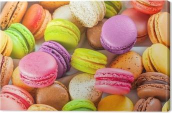 Quadro su Tela Tradizionali francesi macarons colorati in una scatola