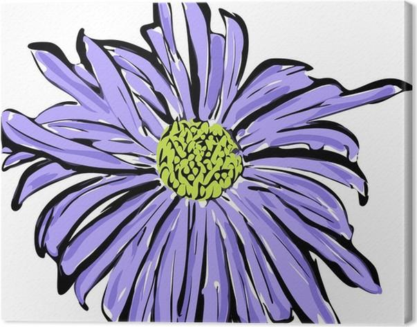 Quadro su tela uno schizzo del fiore blu simile ad una margherita quadro su tela uno schizzo del fiore blu simile ad una margherita arte e creazione thecheapjerseys Choice Image