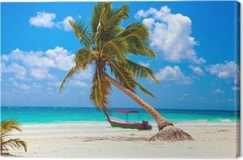 Quadro su Tela Vacanze concetto: Paradiso dei Caraibi.