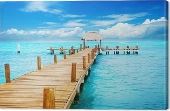 Quadro su Tela Vacanze in Tropic Paradiso. Jetty su Isla Mujeres, Messico