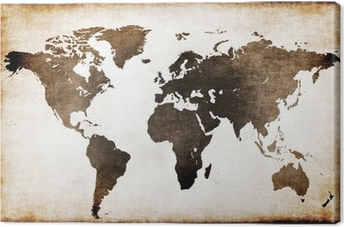 Quadro su Tela Vecchia mappa del mondo