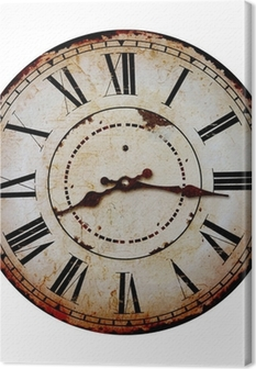 Quadro su Tela Vecchio orologio.