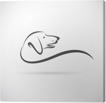 Quadri su tela bassotto pixers viviamo per il cambiamento - Colorazione immagine di un cane ...