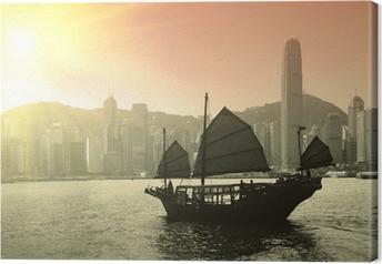 Quadro su Tela Vela Victoria Harbor a Hong Kong