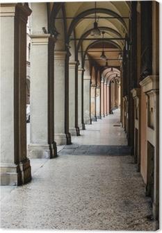 Quadro su Tela Via Galliera, Bologna typical portico