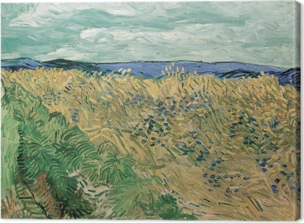 Quadro su Tela Vincent van Gogh - Campo di grano con fiordalisi - Reproductions