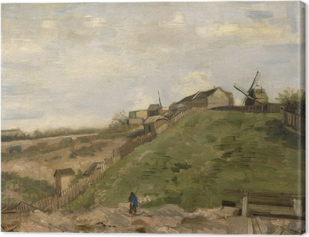 Quadro su Tela Vincent van Gogh - Collina di Montmartre con Stone Quarry - Reproductions