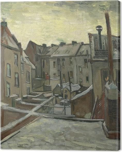 Quadro su Tela Vincent van Gogh - Cortili di vecchie case a Anversa - Reproductions