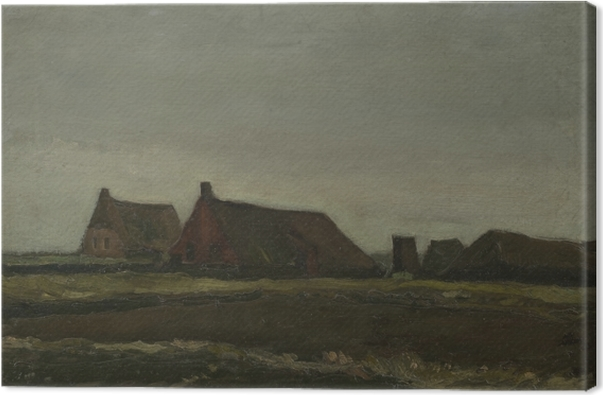 Quadro su Tela Vincent van Gogh - Cottages - Reproductions