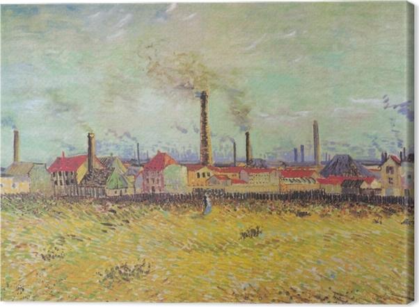 Quadro su Tela Vincent van Gogh - Fabbriche a Asnières - Reproductions