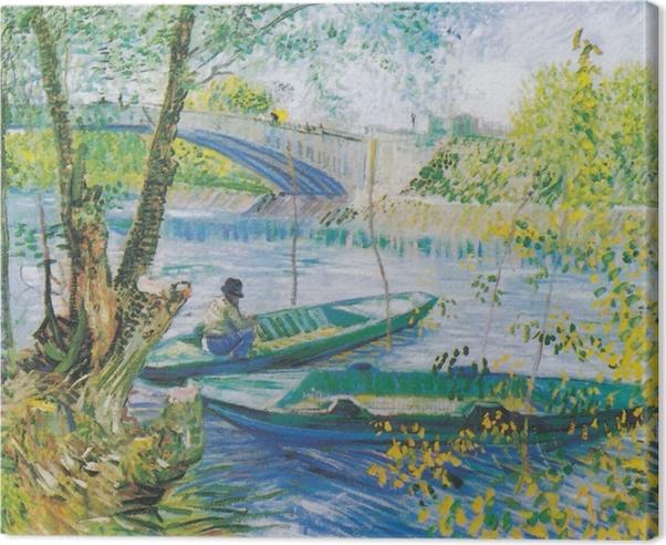 Quadro su Tela Vincent van Gogh - La pesca in primavera - Reproductions