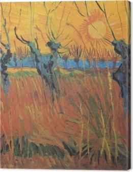 Quadro su Tela Vincent van Gogh - Salici al tramonto