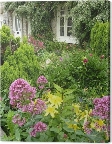 Quadro su Tela Vista Cartolina del inglesi giardini terrazzati ...
