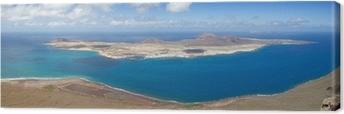 Quadro su Tela Vista panoramica su isola di La Graciosa, Lanzarote, Spagna