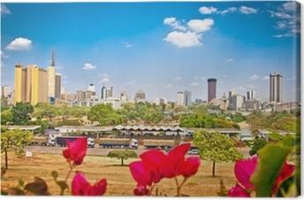 Quadro su Tela Vista panoramica su Nairobi, in Kenya.