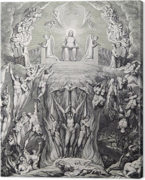 Quadro su Tela William Blake - Una visione del Giudizio Universale - Riproduzioni