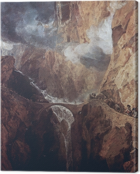 Quadro su Tela William Turner - Passo del San Gottardo - Riproduzioni