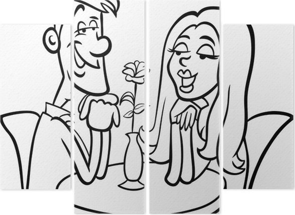 quadríptico casal apaixonado desenho animado para colorir pixers