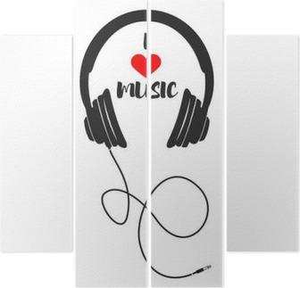 Quadríptico Eu amo a música