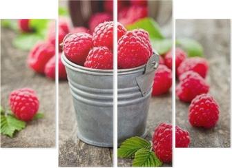 Quadríptico Fresh raspberry