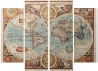 Quadríptico Old map (1626)
