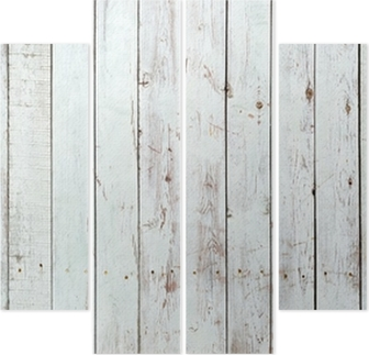 Black and white background of wooden plank Quadriptych