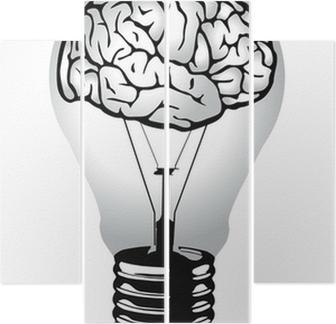 Brain Light Bulb Vector Wall Mural U2022 Pixers® U2022 We Live To Change