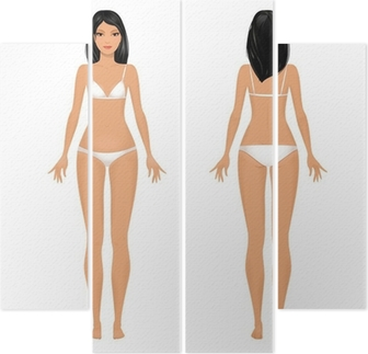 Female Body Template Front And Back Wall Mural O PixersR We Live To Change