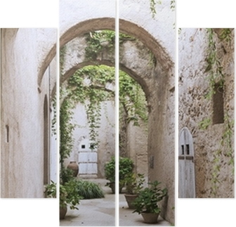 Old arcade at the Castle Quadriptych