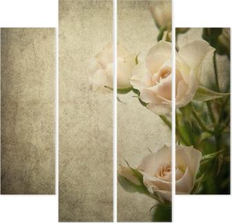 Rose texture Quadriptych