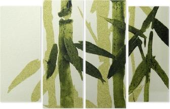 Quadriptychon Bamboo texture