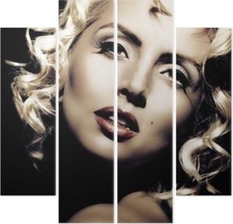 Aufkleber Marilyn Monroe Nachahmung. Retro-Stil • Pixers® - Wir ...