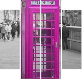 Quadriptychon Telefonzelle in London