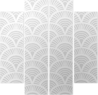 Quadriptychon Vintage-handgezeichnete Art-Deco-Muster