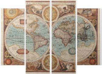 Quadriptyque Ancienne carte (1626)